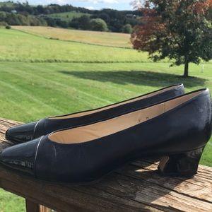 Etienne Aigner Shoes - ETIENNE AIGNER ANN MARIE BLACK LEATHER LOW HEEL 9